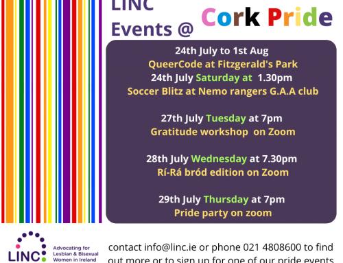 LINC events for Cork Pride